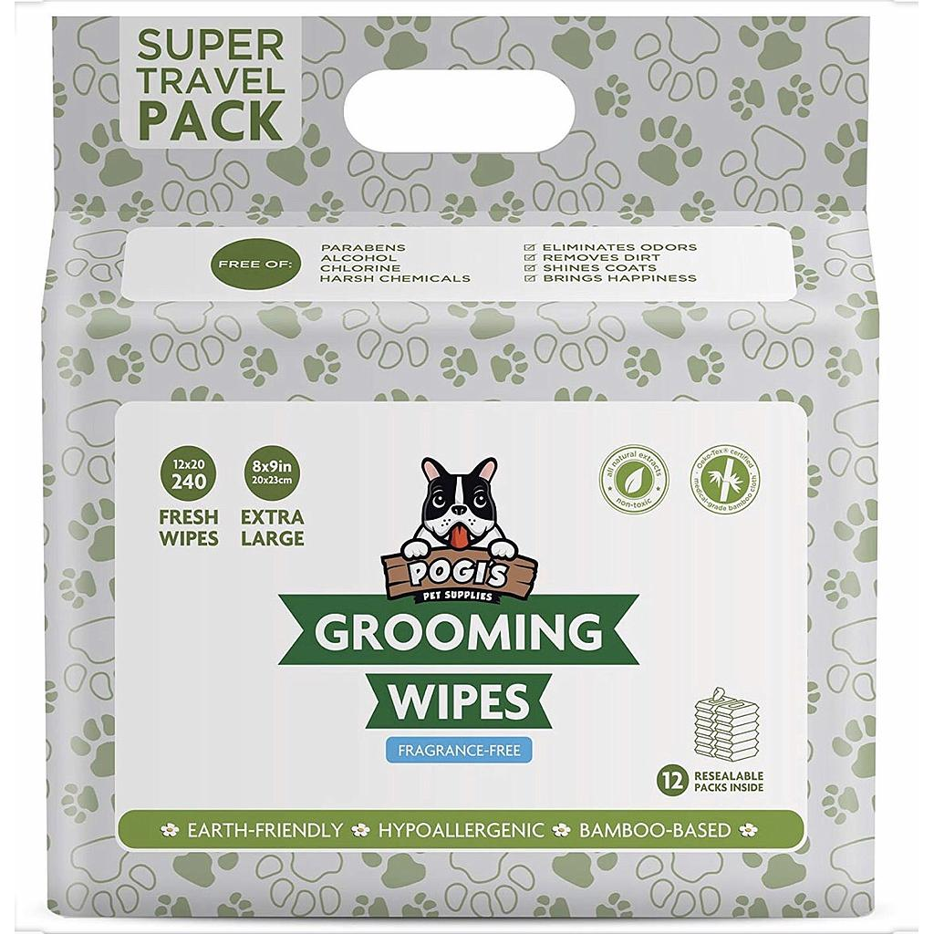 240 Pack Grooming Wipes - Unscented