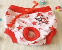 Pet Girl Underwear Red Star Color (L)