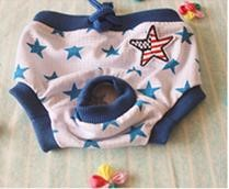 Pet Girl Underwear Blue Star Color (S)