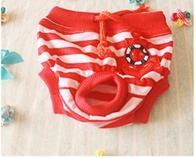 Pet Girl Underwear Anchor Red Color (S)