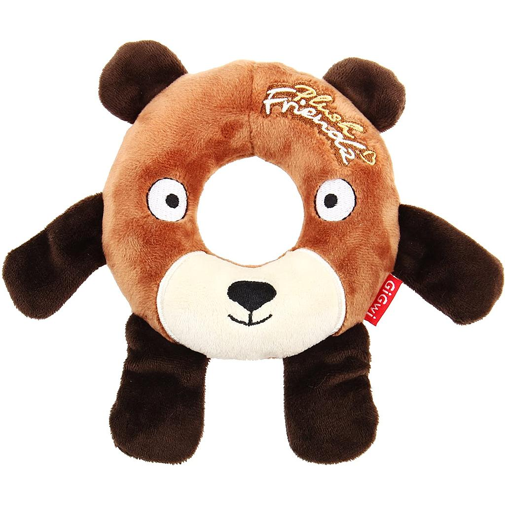 Gigwi Bear Plush Friendz withfoam rubber ring with squeaker